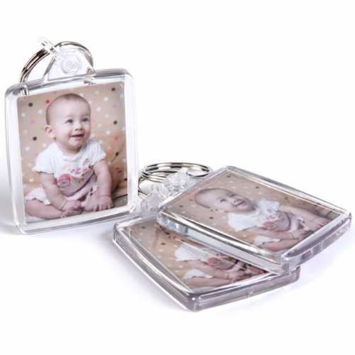 Double Sided  Photo Keyring